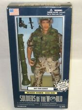 "ANTI-TANK GUNNER DESERT STORM SOLDIERS OF THE WORLD 12"" FIGURE 2000"