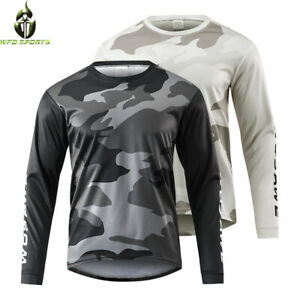 Mens Cycling Jerseys  Long Sleeve Bicycle Clothing Outdoor Sports Fitness Shirt