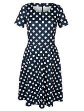 Laura Kent Kleid in modischem Tupfendessin marine/ecru NEU!!! KP 59,99 € SALE%%%