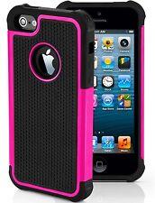 Shockproof Rugged Slim Armor Apple iPhone 4 4S SE 5 5S 5C Case Cover USA SELLER