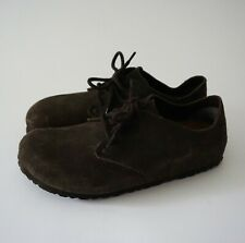 Birkenstock Maine Mocha Suede Lace-Up Oxford Leather Size 40 US 9 9.5