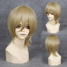 Popular Gintama Okita Sougo Sougo Short Milk Tea Brown Straight Cosplay Wig 069g
