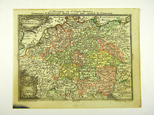 GERMANIEN BENELUX POLEN ÖSTERREICH ALTKOL KUPFERSTICH KARTE LOTTER 1762 #D916S