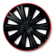 Radblenden Radkappen Giga R 15 Zoll schwarz black rot red Radzierblende