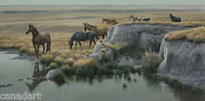 Robert BATEMAN Mustang Country LTD art print Horses Alberta MINT in folder COA
