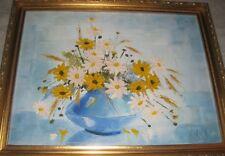 Original Nina D Buxton 12 X 16 Oil Painting on Canvas Daisies