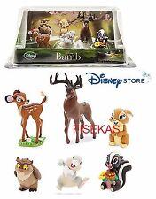 Disney Store Bambi Thumper 6 pc Figure Mini Doll Play Set PVC Cake Topper NEW