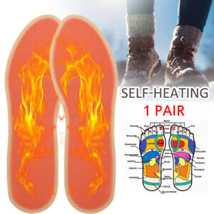 1 Pair Self-heating Shoe Insoles Warm Heating Insole Heater Foot Warmer PasSNIA