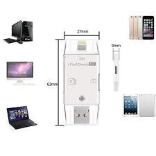 3 en1 USB 2.0 Adaptateur OTG Lecteur Carte Micro SD TF Pour iphone ipad Caméra