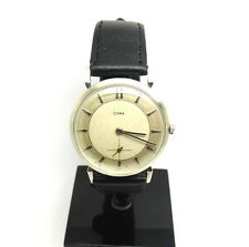 Rare Vintage CYMA 14K Solid White Gold Winding Watch 17 Jewels R.458 C19407