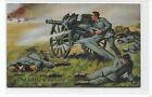 Germany Artist Postcard Hoffmann,WW-I Artillery Last Grenade,Soldiers in Action
