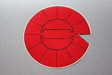 PS Ancien autocollant rond rouge trait noir diamètre 160 mm
