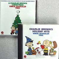 Charlie Brown Christmas Vince Guaraldi Trio 2 CD Lot Holiday Hits Fantasy Jazz