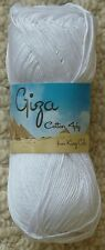 King Cole Giza Cotton 4 Ply 2190 White