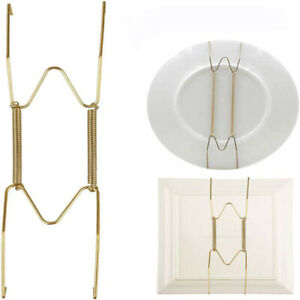 10pcs Wall Display Plate Dish Hangers Holder Invisible Spring Hooks Holder HC