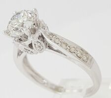 1.93 ct Vintage 18k White Gold Transition Diamond Engagement Ring Egl Rtl $17K