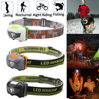 3Modes Waterproof Head Torch Headlight LED Rechargeable Headlamp Fishing Outdoor