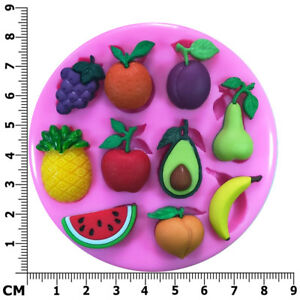 Fresh Fruit Pineapple Avocado Watermelon Pear Silicone Mould by Fairie Blessings