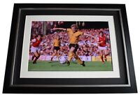 Andy Gray Signed Autograph 16x12 framed photo display Wolves Football AFTAL COA