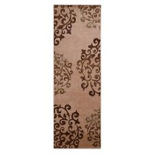 Superior Amber Collection Camel Brown Digitally Printed 2.6' x 8' Runner Rug
