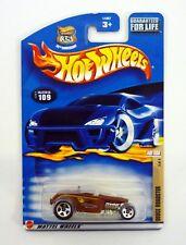 HOT WHEELS DEUCE ROADSTER #109 Hot Rod Magazine Die-Cast Car MOC COMPLETE 2002
