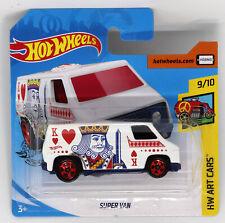 Super Van Hot Wheels Art Cars 1:64 Scale Die-cast Model Toy Van New