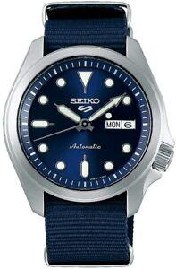 Seiko 5 Sports Men's Automatic Watch with Blue Nylon Strap SRPE63K1