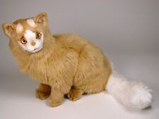 Lifelike Turkish Van Cat by Piutre, Made in Italy, Plush Stuffed Animal Nwt