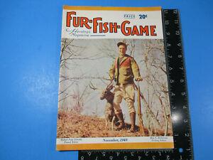 Vintage Fur-Fish-Game Magazine November 1949 Martin Trapping Mallards  M6850