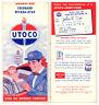 Vintage 1960 CO/NV/UT Road Map from Utah Oil Refining Co. (UTOCO)