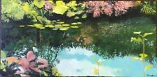 "Original Painting ""Monet Lily Pond-Giverny"" Oil on Canvas 18""x24"" by C. Pecharka"