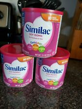 3 cans Similac Soy Isomil 12.4 oz baby formula