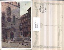 248679,Künstler AK Ernst Graner Wien 1 Franzsikanerplatz Brunnen Kirche pub Brüd