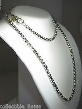 DAVID YURMAN 3.6MM WIDE BOX CHAIN STERLING SILVER & 14K DY TAG 22 INCH NECKLACE