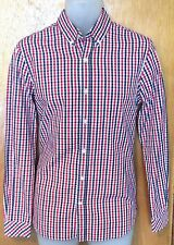"MUSTO CHECKED SHIRT BNWOT NEW SIZE SMALL 38"" BEAUTIFUL SHIRT TOP QUALITY"