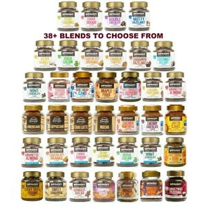 6x BEANIES FLAVOURED INSTANT GROUND COFFEE 50g JARS: SELECT ANY 6 BLENDS