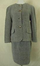 Einreihige Damen-Anzüge & -Kombinationen im Kostüm-Stil aus Wolle mit Jacket/Blazer