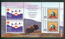 Greenland #B18a, Boy Scout & Red Cross Souvenir sheet,