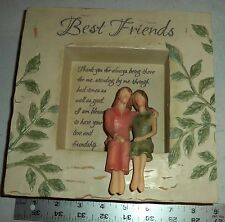 BEST FRIENDS 2 GIRLS 3d frame or wall hanging