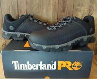 Timberland PRO A176A Mens Powertrain Alloy Toe Work Shoes Black Ripstop 12 Wide