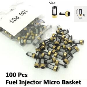 100X Car SUV Fuel Injector Micro Basket Filter For ASNU03C Injector Repair Kits