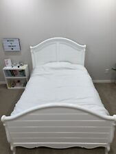 White Wood Full Double Bed Frame Space Saving Kids