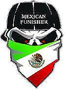 """Mexican Punisher Sticker / Decal size 6"""" long for car, truck, van, laptop, walls"""