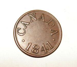 1841 CANADA HALF PENNY COIN TOKEN