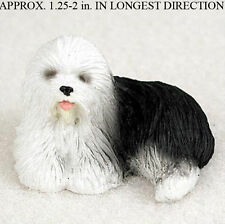 Old English Sheepdog Mini Resin Hand Painted Dog Figurine