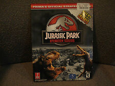 JURASSIC PARK OPERATION GENESIS XBOX PLAYSTATION 2 PS2 PC BOOK STRATEGY GUIDE