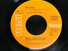 ED AMES and i love you so / the ship RCA 74-0678