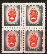 Canada 1956  Sc364 Mi311 1.60 MiEu 1 block  mnh  Preventable fires