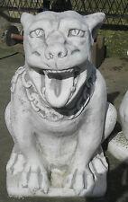 Riesiger GARGOYLE Höhlenhund 65 kg schwer Torwächter Fantasie Figur Gartendeko