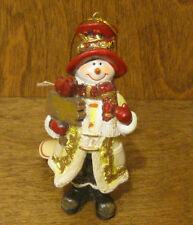 """Transpac Ornaments #X3311C SNOWMAN, New from Retail Store 4.5"""" CHRISTMAS"""